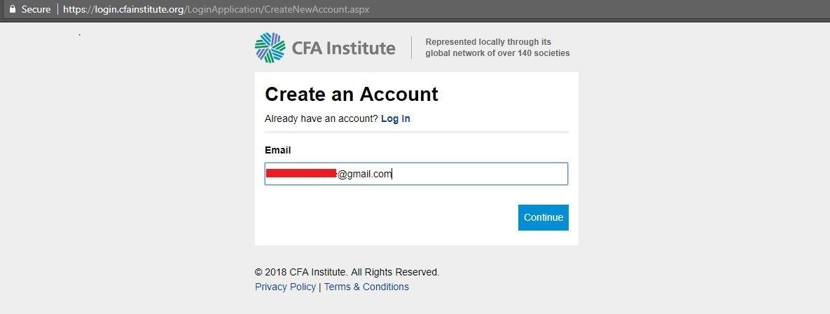 ثبت نام CFA | تهران کردیت کارت