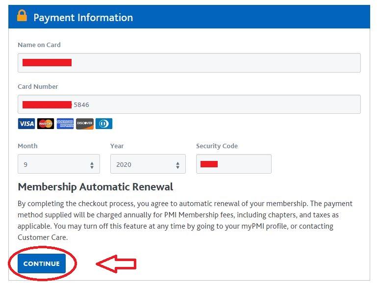 پرداخت حق عضویت PMI | تهران کردیت کارت