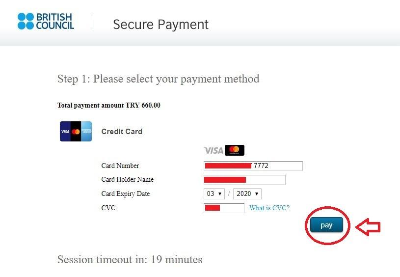 پرداخت هزینه آزمون آیلتس با ویزا کارت | تهران کردیت کارت