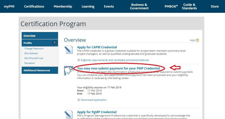 PMP registration | تهران کردیت کارت