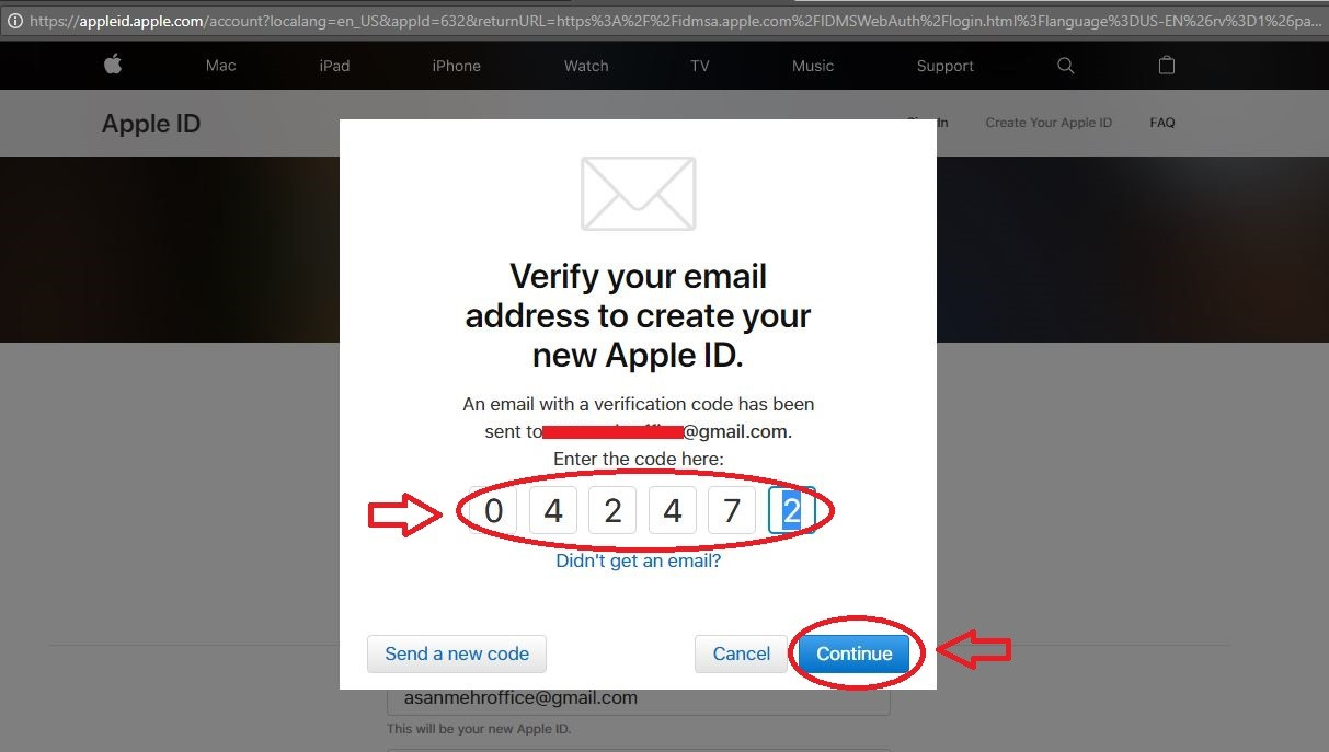 ایمیل تأیید اپل آی دی | تهران کردیت کارت