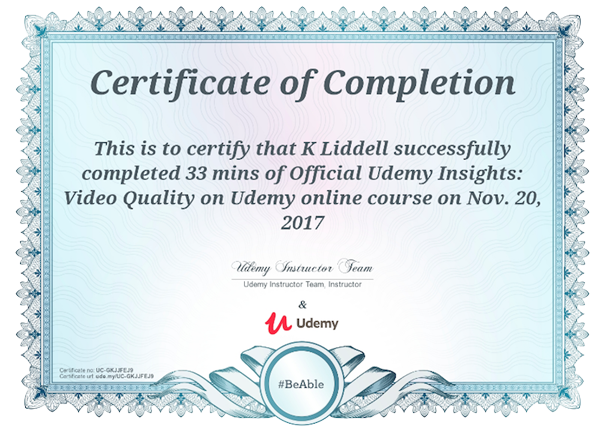 گواهینامه دوره آموزشی Udemy | تهران کردیت کارت