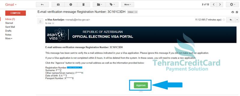 پرداخت ویزای آنلاین باکو | تهران کردیت کارت