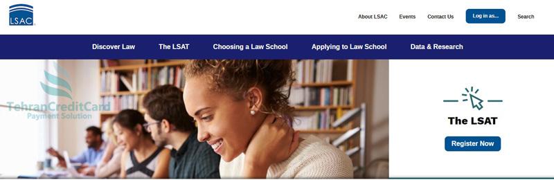 پرداخت هزینه آزمون LSAT | تهران کردیت کارت