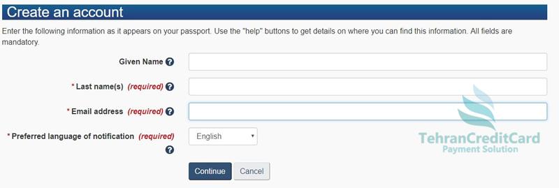 پرداخت ویزای کانادا با ویزا کارت | تهران کردیت کارت
