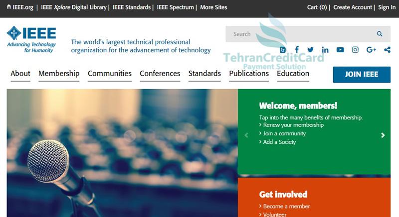 ایجاد اکانت IEEE | تهران کردیت کارت