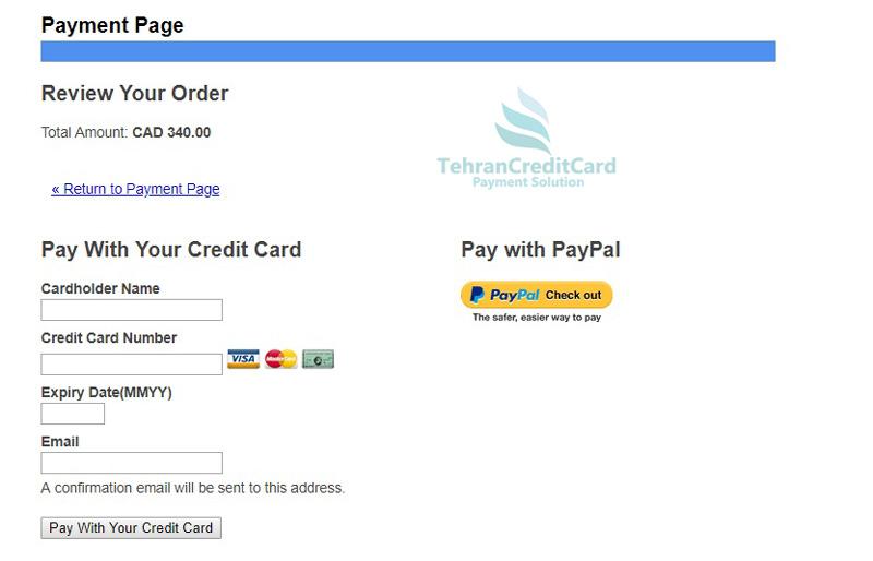 پرداخت هزینه CELPIP | تهران کردیت کارت