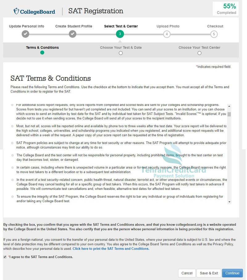 منابع آزمون SAT | تهران کردیت کارت