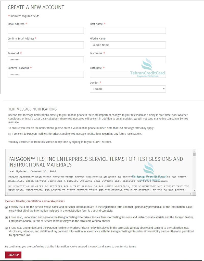 ثبت نام آزمون CELPIP | تهران کردیت کارت