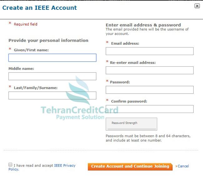 پرداخت حق عضویت IEEE | تهران کردیت کارت