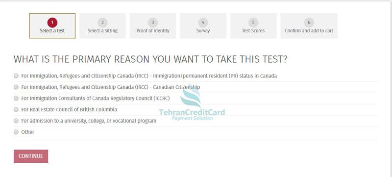 پرداخت هزینه آزمون CELPIP | تهران کردیت کارت