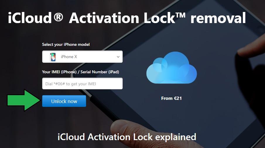 باز کردن (Unlock) آیکلود