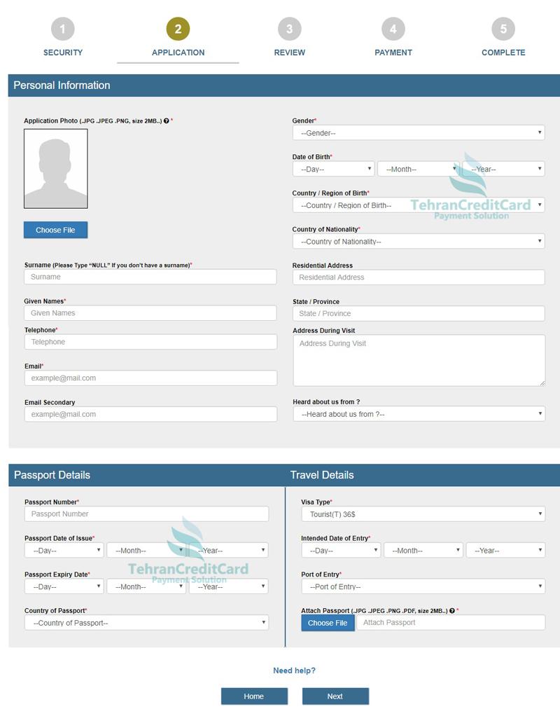 ایجاد اکانت ویزای کامبوج | تهران کردیت کارت