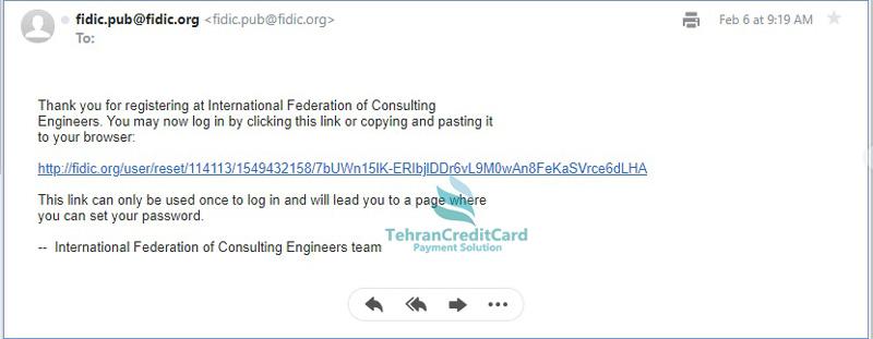 راهنمای اکانت FIDIC | تهران کردیت کارت