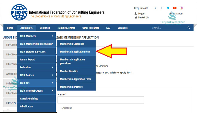 عضویت در انجمن مهندسین مشاور | تهران کردیت کارت