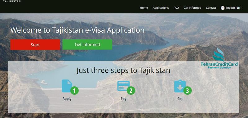وبسایت تاجیک ای ویزا | تهران کردیت کارت
