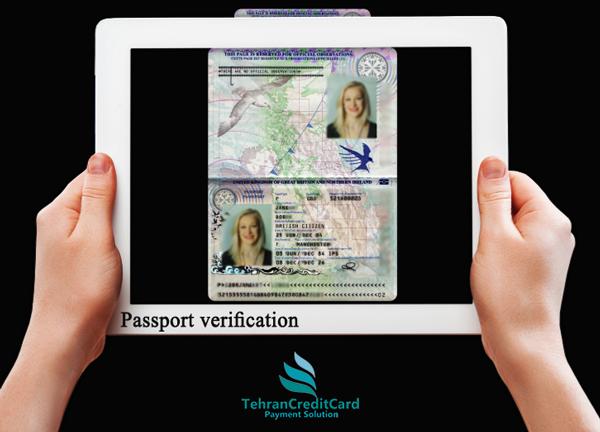 آپلود پاسپورت احراز هویت | تهران کردیت کارت