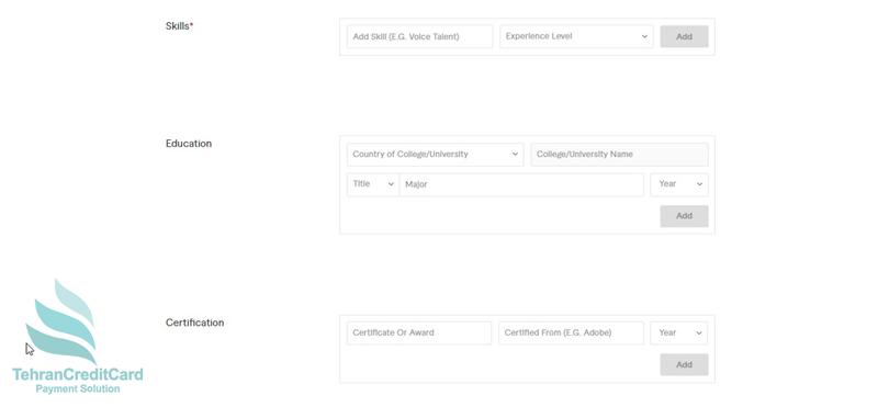 ایجاد حساب کاربری Fiverr | تهران کردیت کارت